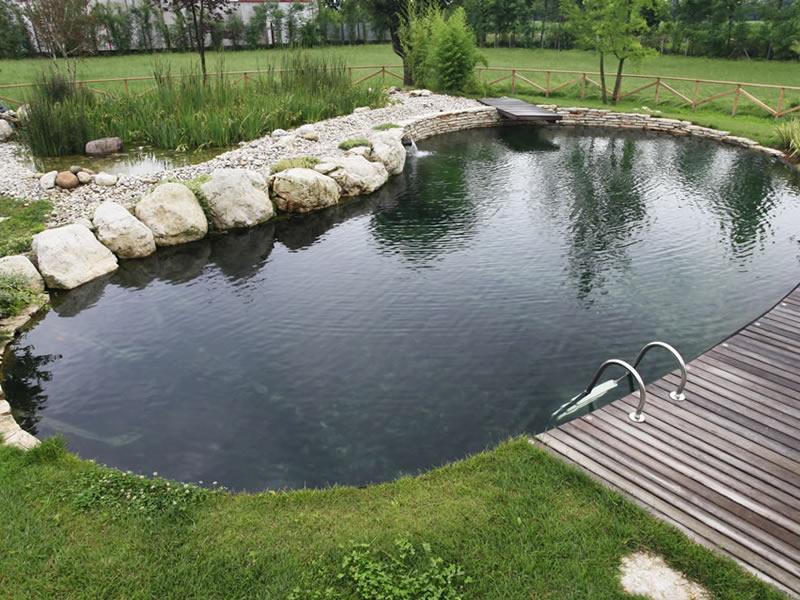 Progettazione e realizzazione di un biolago balneabile in for Immagini di laghetti artificiali